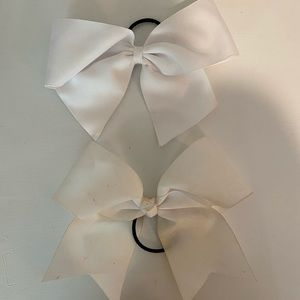 White cheer bows
